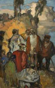 Frank William Brangwyn - Skizze für 'The Meeting'