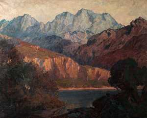 Christopher Williams - Sonnenuntergang Glühen auf cader idris