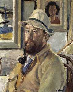 Ronald Ossory Dunlop - Ich selbst mit Cadger's Rohr