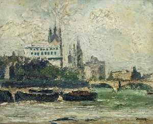 Ronald Ossory Dunlop - Die Themse bei Westminster