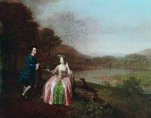 Arthur William Devis - sir george strickland ( 1729–1808 ) , und lady strickland von boynton Halle , Bridlington