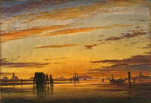 Edward William Cooke - venezianischen lagunen – Sonnenuntergang