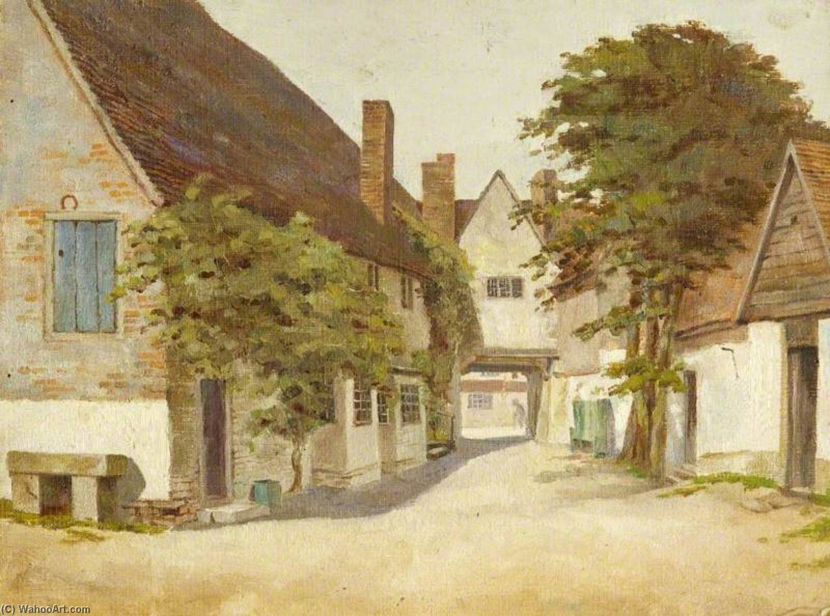 Der 'Crown' Gasthaus , Amersham, öl von Charles Paget Wade (1883-1956, United Kingdom)