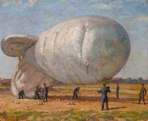 Francis Edwin Hodge - bettend nach unten  Ein  Barriere  ballon