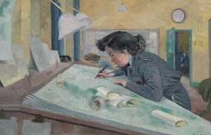 Evelyn Mary Dunbar - Abschnitt offizier austen , Women-s Behelfs luftwaffe Meteorologe