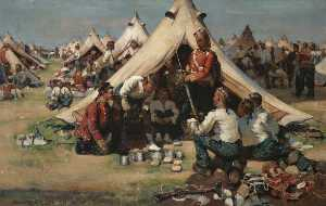 William Joseph Kennedy - die argylls im camp bei Stirling