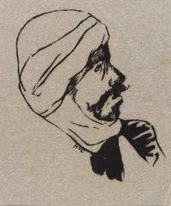 Howard Cook - Mann in Turban