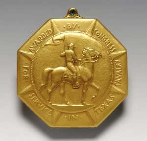 Anthony De Francisci - Texas Kavallerie Medaille ( entsprechend )