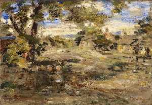William Mctaggart - landschaft skizze , Howgate