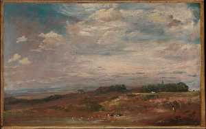 John Constable - Hampstead Heath mit Badenden