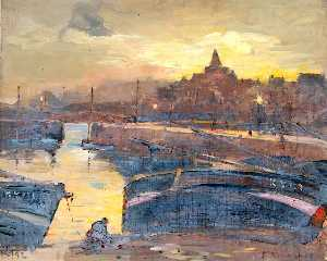 William Henry Charlton - hafen abend