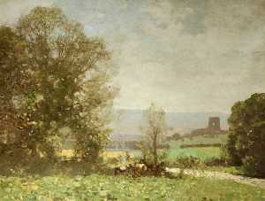George Houston - Landschaft – Dundonald Schloss