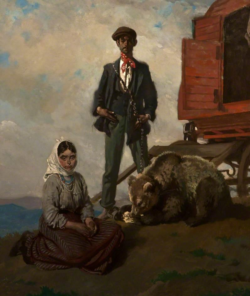 In der Dublin Gebirge, öl auf leinwand von William Newenham Montague Orpen (1878-1931, Ireland)