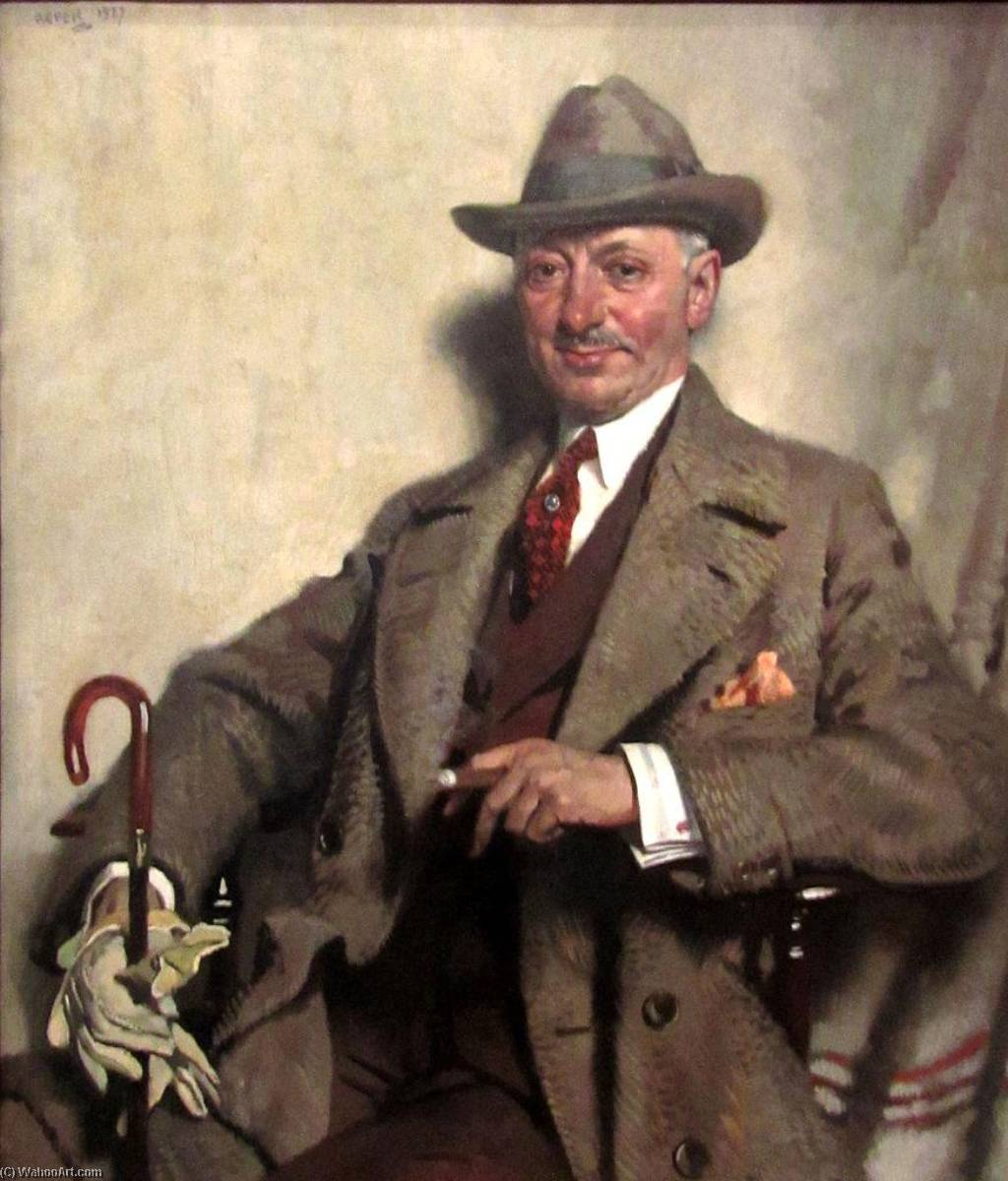 jacob epstein, 1927 von William Newenham Montague Orpen (1878-1931, Ireland)