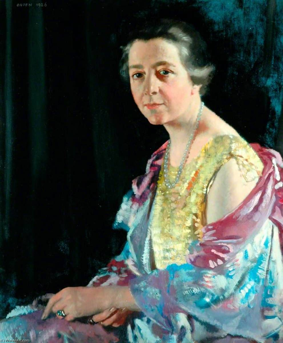 Frau thomas howarth, 1926 von William Newenham Montague Orpen (1878-1931, Ireland) | Kunst-Wiedergabe | WahooArt.com
