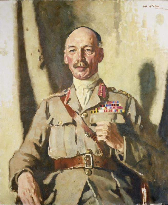 general sir henry rawlinson seymour ( 1864 1925 ) Bt , GCVO , KCB , KCMG, öl auf leinwand von William Newenham Montague Orpen (1878-1931, Ireland)