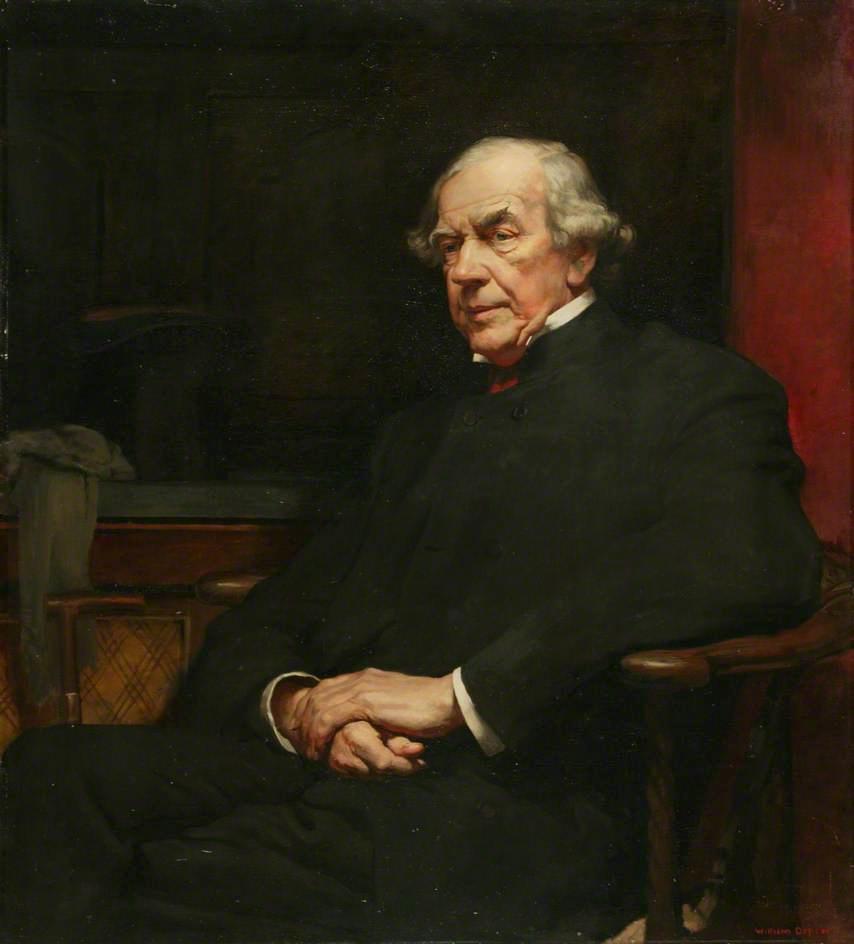 james staats forbes , Kunst kenner und bahnleiter, öl auf leinwand von William Newenham Montague Orpen (1878-1931, Ireland)