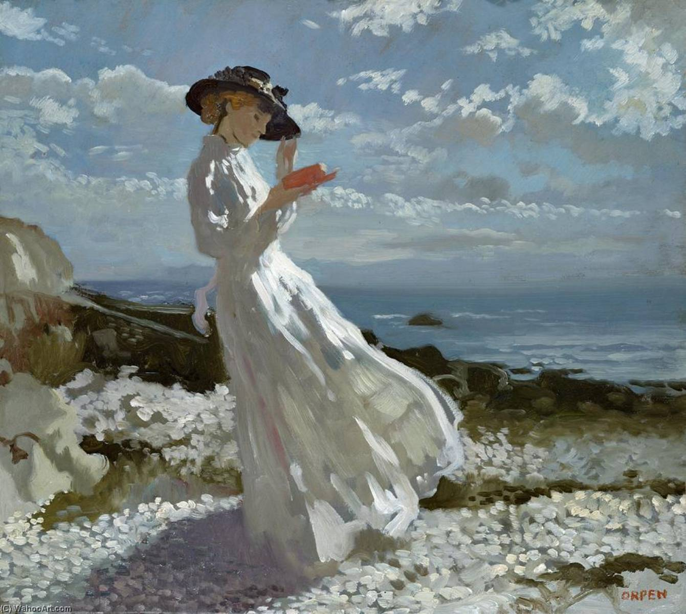 Gnade liest Howth Bay, 1900 von William Newenham Montague Orpen (1878-1931, Ireland) | Malerei Kopie | WahooArt.com