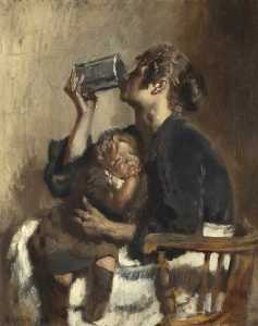 William Newenham Montague Orpen - Lottie und der Baby