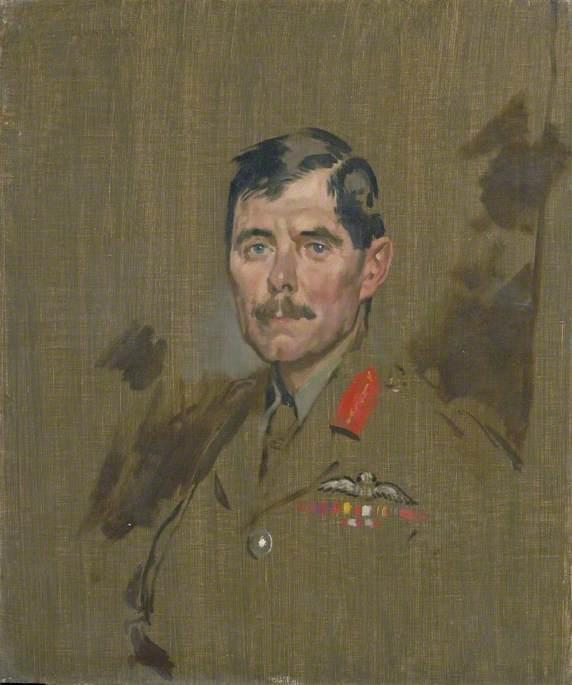generalmajor hugh m . Trenchard , CB , DSO, öl auf leinwand von William Newenham Montague Orpen (1878-1931, Ireland)