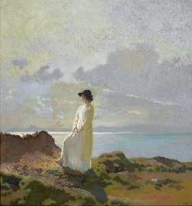 William Newenham Montague Orpen - In den Klippen Bucht von Dublin  Frühe