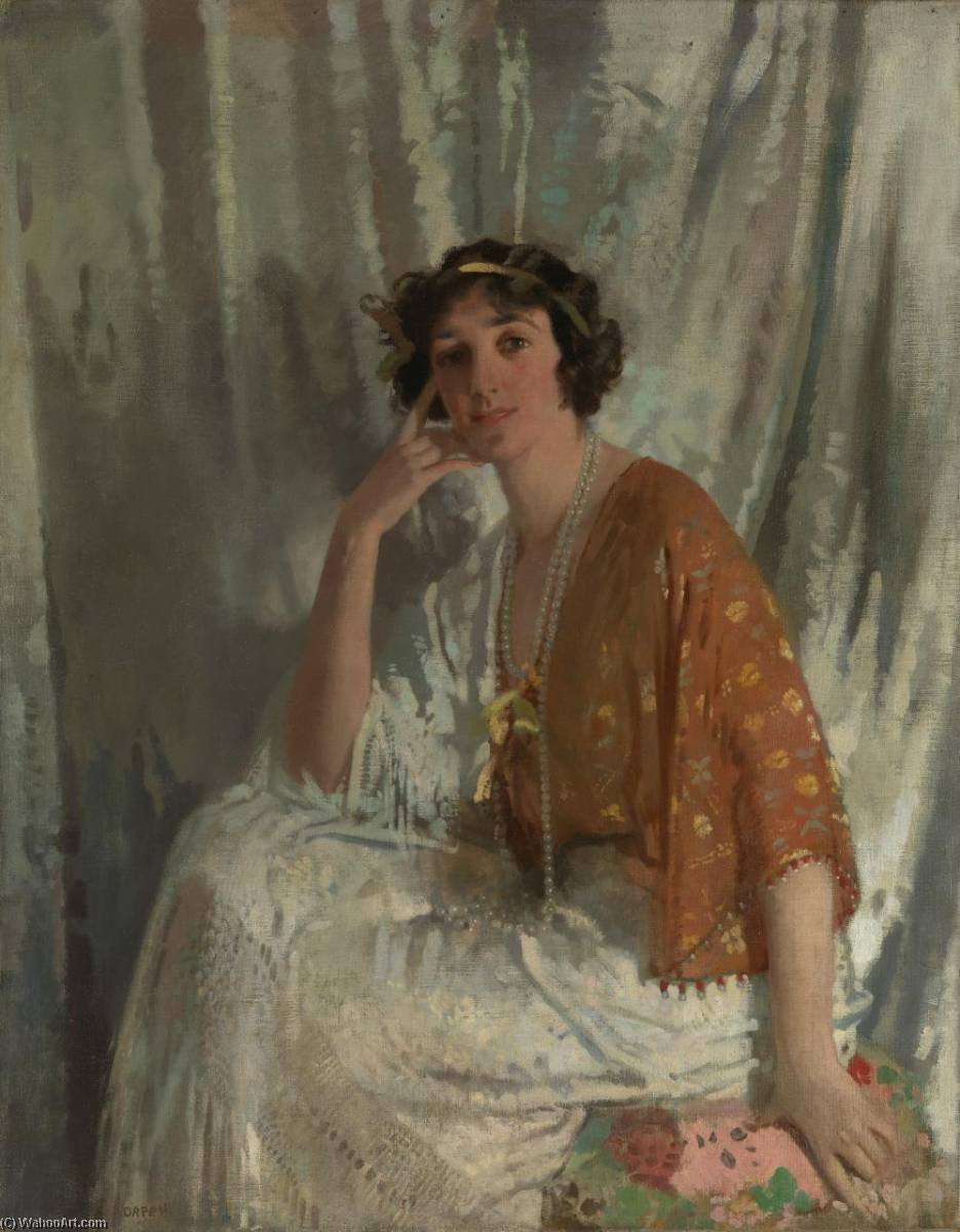 miss muriel wilson, öl auf leinwand von William Newenham Montague Orpen (1878-1931, Ireland)