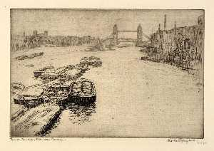 Bertha Evelyn Jaques - tower bridge , Thames , London untergebracht