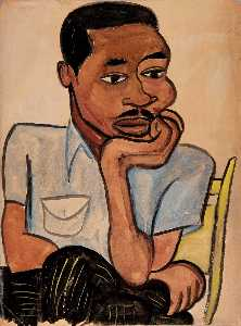 William Henry Johnson - Mann in ein Blau Hemd Harry