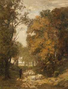 William Mouncey - Herbst in der  wald