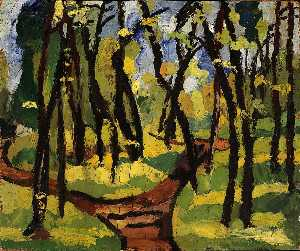 William Henry Johnson - landschaft mit bäume