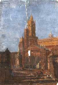 Thomas Stuart Smith - architekturstudie von einem Piazza
