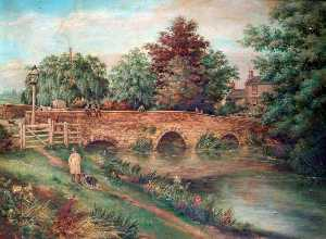 William Samuel Wright - der alte Packesel Brücke , Olney , Buckinghamshire