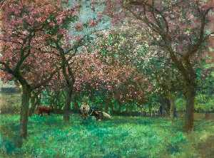Alfred George Webster - Herr Bland's Obstgarten , Heighington , Lincoln