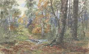 James Henry Crossland - Woodland-Szene