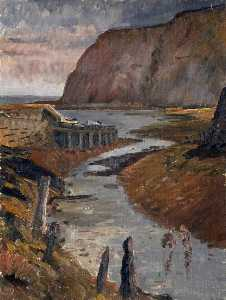 Harry White - seashore bei whitby , Norden Yorkshire