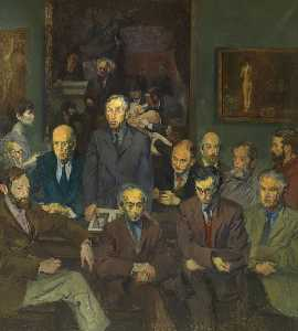 Raphael Soyer - Hommage an thomas eakins