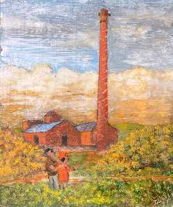 James Bentley - der derelict Wissen hill brickworks , Buckley , Vor 1939