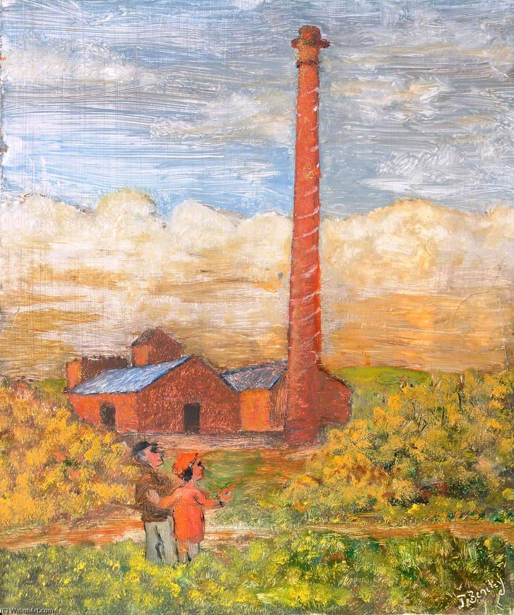 der derelict Wissen hill brickworks , Buckley , Vor 1939 von James Bentley | Malerei Kopie | WahooArt.com