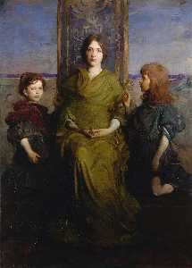 Abbott Handerson Thayer - Virgin inthronisiert