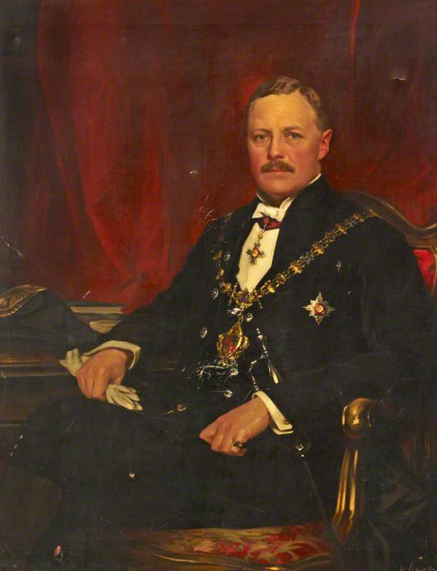 sir william davison ( 1872–1953 ) , MP, öl auf leinwand von Samuel Henry William Llewellyn