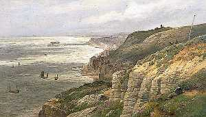 William Henry Borrow - Hastings , east sussex , von dem ostklippe