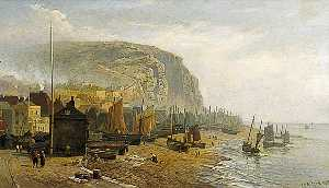 William Henry Borrow - Hastings Strand , east sussex