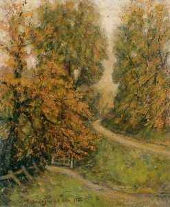 Henry Childe Pocock - Lawrence Straße in Herbst , mill hill