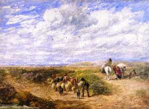 David Cox The Elder - behalten die linke straße
