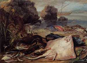 Jan Van Kessel The Elder - Der Day-s Fang ( ausschnitt )
