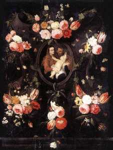 Jan Van Kessel The Elder - heilig familie