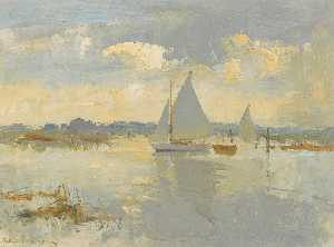 Edward Seago - Abend in Heigham Ton