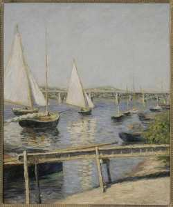 Gustave Caillebotte - VOILIERS Ein ARGENTEUIL
