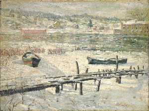 Ernest Lawson - Harlem fluss im winter