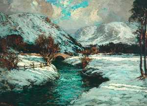 Robert Gwelo Goodman - Borrowdale im winter